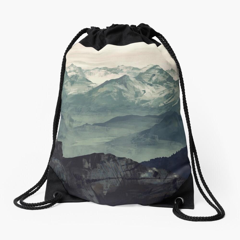 Mountain Fog Drawstring Bag