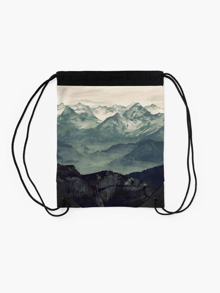 Alternate view of Mountain Fog Drawstring Bag