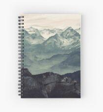 Berg Nebel Spiralblock