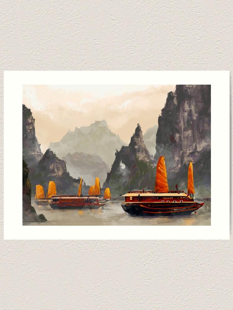 Alternate view of Ha Long Bay Art Print