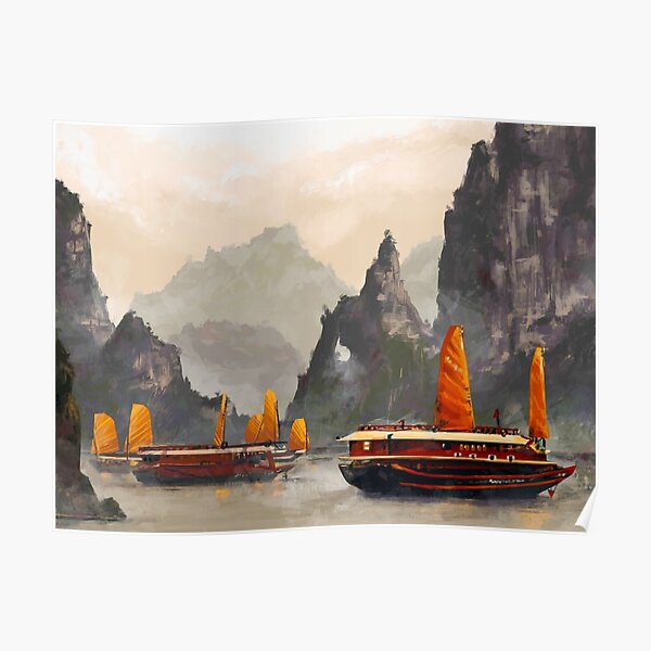 Baie d'Halong Poster