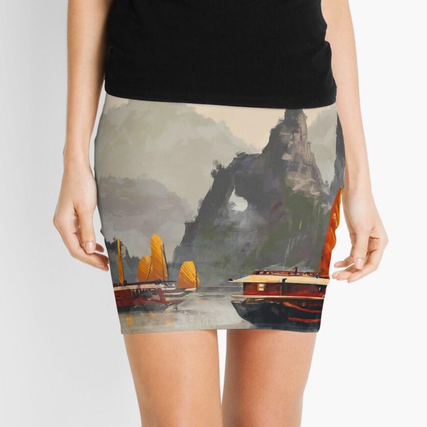 Ha Long Bay Mini Skirt