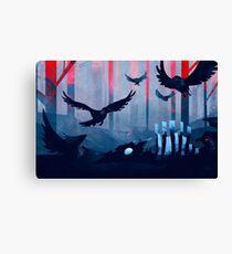 Blue Stone Landscape Canvas Print