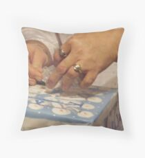 Wrapping the gift tight with love..... Throw Pillow