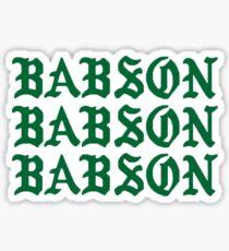 Kanye Babson x3 Sticker