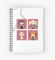 Persona 5 Pixel Art - Girls (white) Spiral Notebook