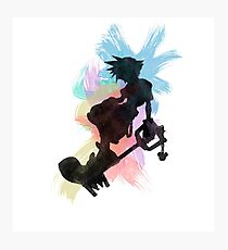 Kingdom Hearts: Watercolor Sora Photographic Print