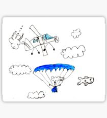 Parachuting Sticker