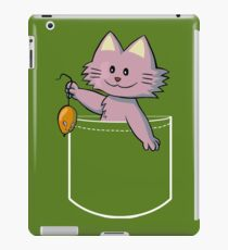 Cute Cat with a Rat T-shirt, Funny Pocket Animal iPad Case/Skin