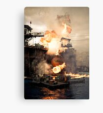 Explosive Moment Metal Print