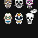 Sugar Skull Hipsters by HandDrawnTees