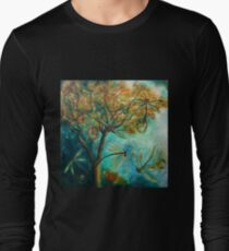 """Dragonfly Flirtation"" (Time is fleeting) Long Sleeve T-Shirt"