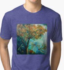"""Dragonfly Flirtation"" (Time is fleeting) Tri-blend T-Shirt"