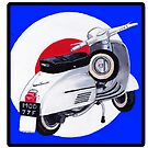 Mod scooter with Target background by Andy  Housham