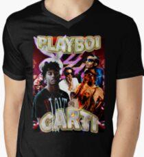 Vintage Playboi Carti Illicit Epiphany Men's V-Neck T-Shirt