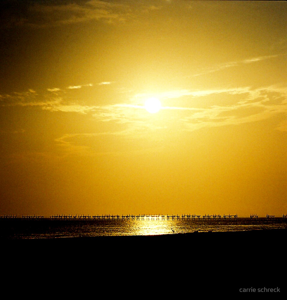 Sunset in Biloxi by carrie schreck