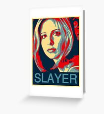 Buffy the Vampire Slayer - Obama Poster Greeting Card