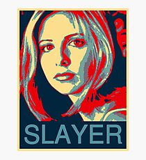 Buffy the Vampire Slayer - Obama Poster Photographic Print