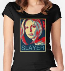 Buffy the Vampire Slayer - Obama Poster Women's Fitted Scoop T-Shirt