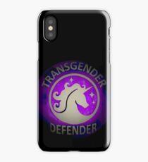 Transgender Defender  iPhone Case/Skin