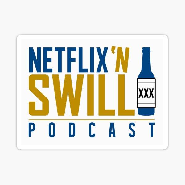 Netflix 'N Swill College Colors Logo Sticker