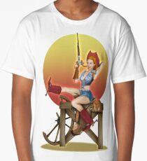 Yeehaw Classic Cowgirl Pin Up Long T-Shirt