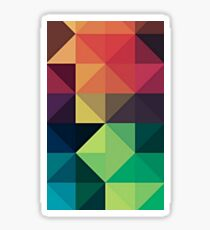 Geometric Colour Grid Repeating Pattern Sticker