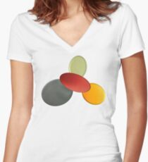 Playful colours Women's Fitted V-Neck T-Shirt