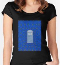 TARDIS in Flight Women's Fitted Scoop T-Shirt