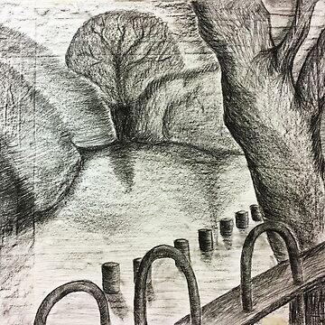 RIVER LANDSCAPE by sarahdallow
