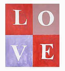 LOVE Graphic Mixed Media Photographic Print