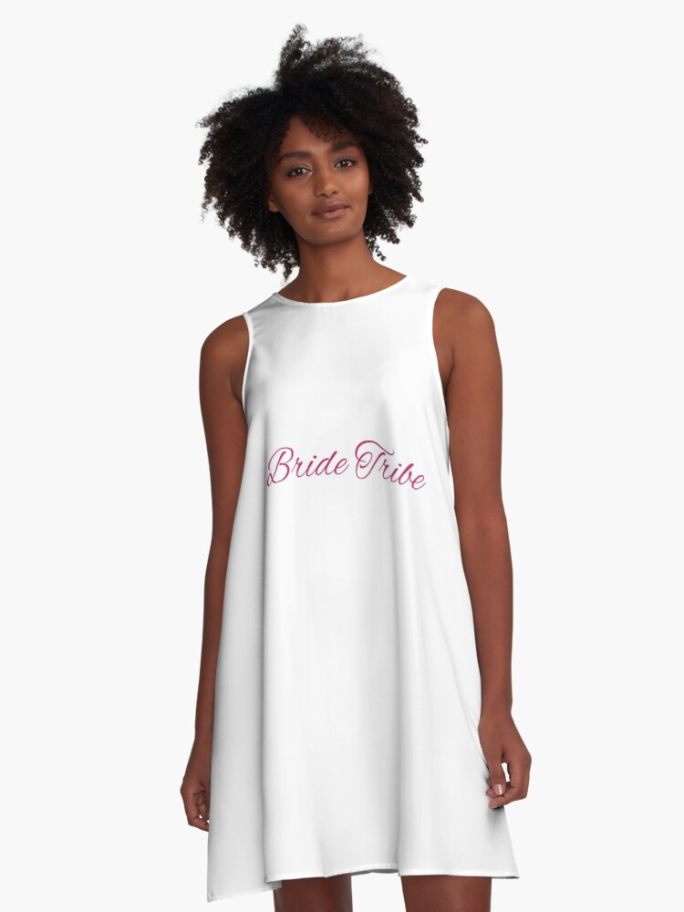 bridal shower bride tribe a line dress