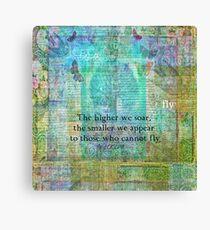 Nietzsche inspirational SOAR quote Canvas Print