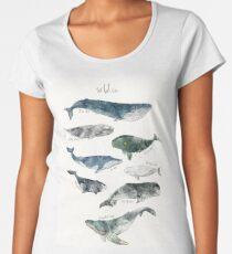 Camiseta premium para mujer Ballenas