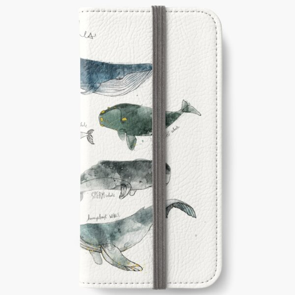 Whales iPhone Wallet