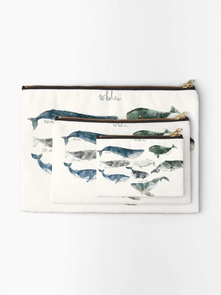 Alternate view of Whales Zipper Pouch