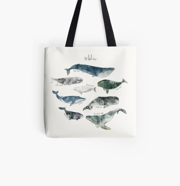 Whales All Over Print Tote Bag