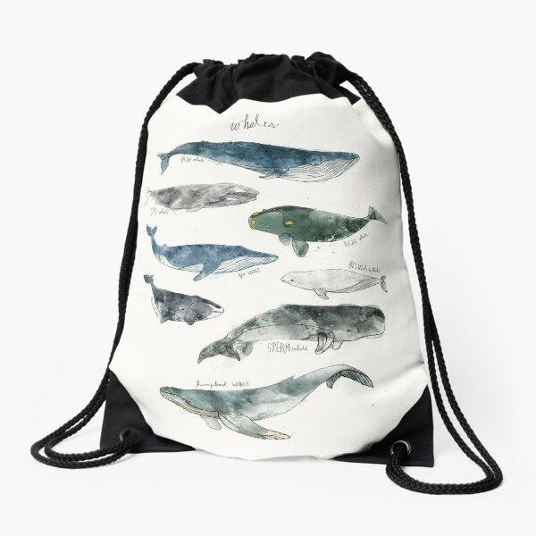 Whales Drawstring Bag