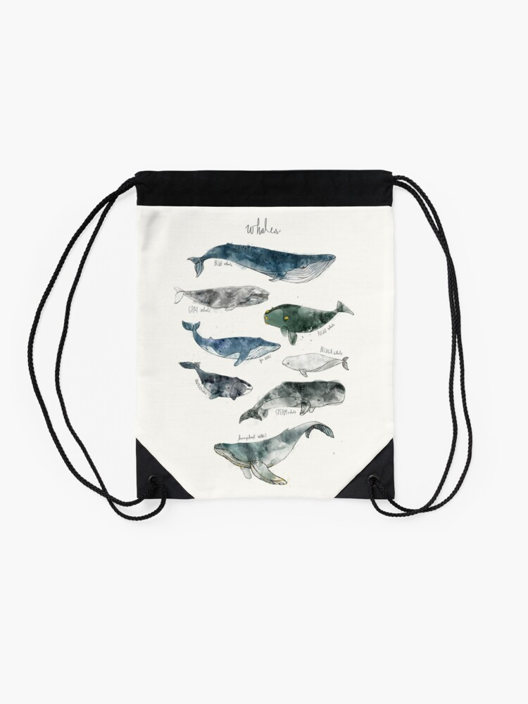 Alternate view of Whales Drawstring Bag