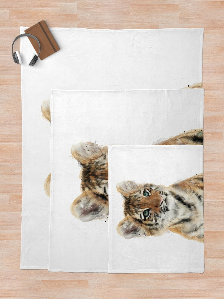 Alternate view of Little Tiger Throw Blanket
