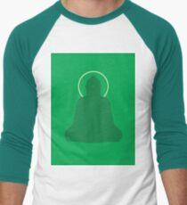 Minimalist Amoghasiddhi Buddha Print Men's Baseball ¾ T-Shirt