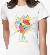 Bringing Summer Wildflowers Inside Womens Fitted T-Shirt