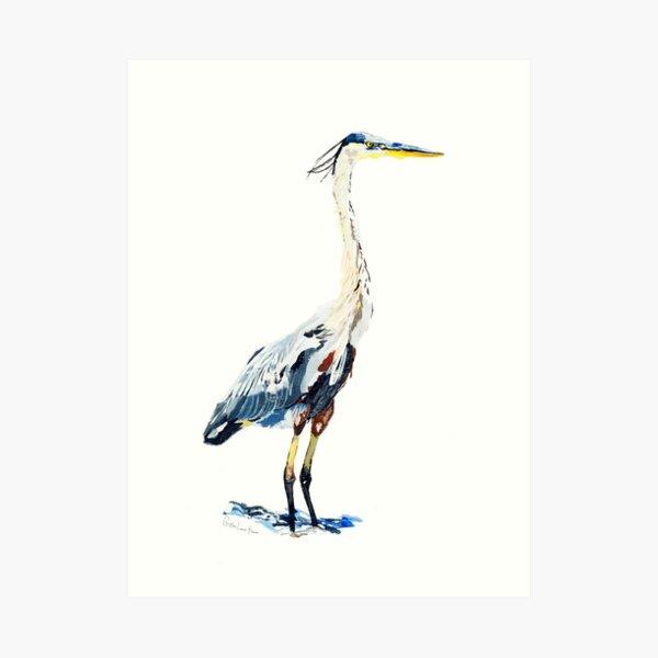 Heron No.2 Art Print