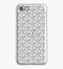goyard white iPhone Case/Skin