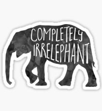 Völlig IrrELEPHANT - Wortspiel Sticker
