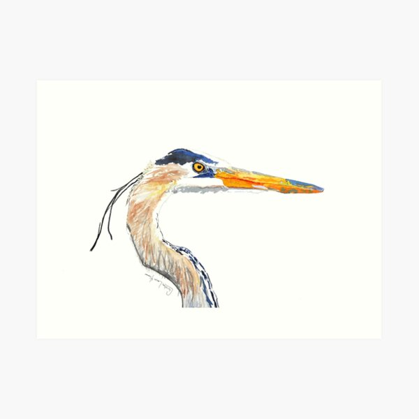 Heron No.7 Art Print