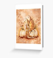 White Pumpkins Greeting Card