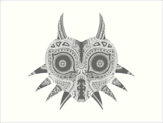 Láminas artísticas «Zelda - Máscara de Majora» de manderlaydreams ...