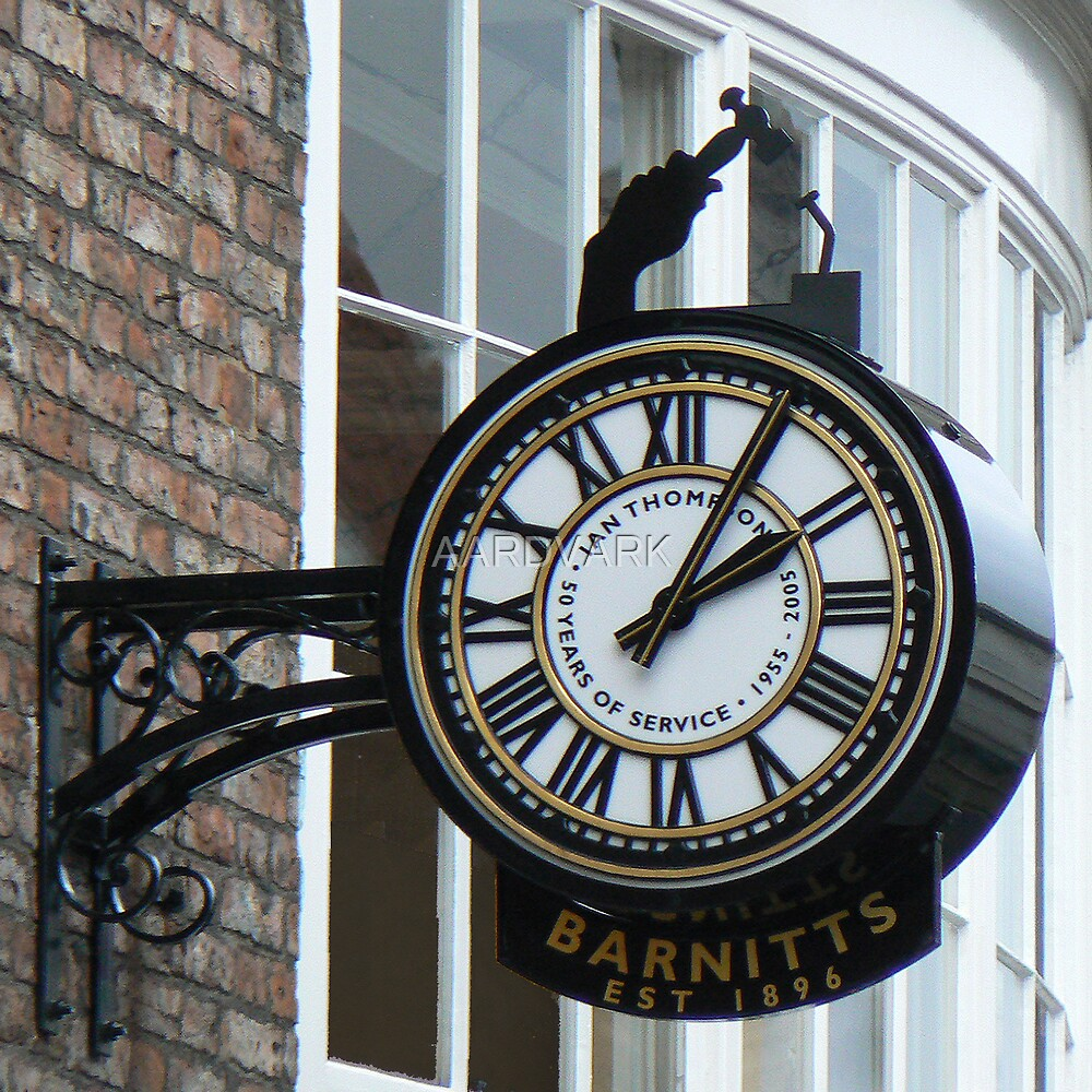 Barnitt's Clock On York's Colliergate by AARDVARK