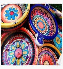 Mexican tableware Poster